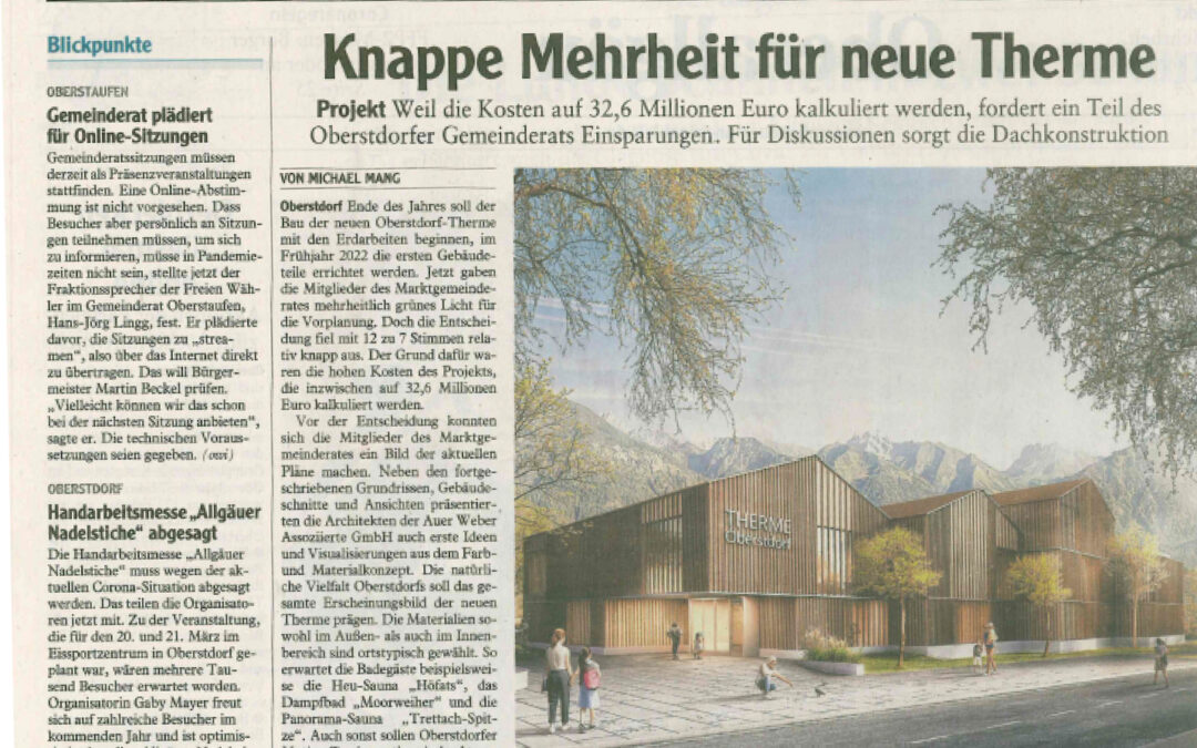 Neubau der Therme in Oberstdorf